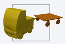 AGV Rebocador - Veículo autoguiado com engate manual e desengate automático