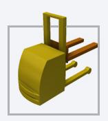 AGV Empilhadeira - Veículo autoguiado movimentação de paletes e bobinas